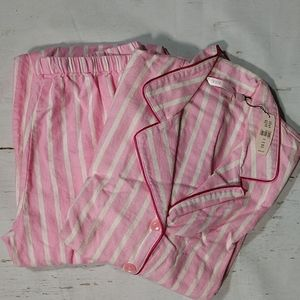 Victoria's Secret Striped Pink Cotton Pajamas